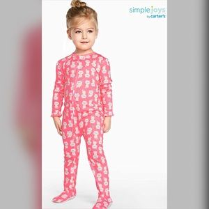 4 for $20💗Bundle of 3 Carter's Footed Pajamas 12M